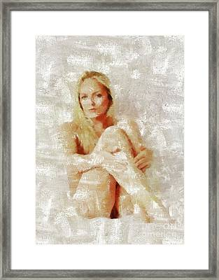 Self Portrait By Mb Framed Print