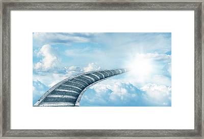 Framed Print featuring the digital art Stairway To Heaven by Les Cunliffe