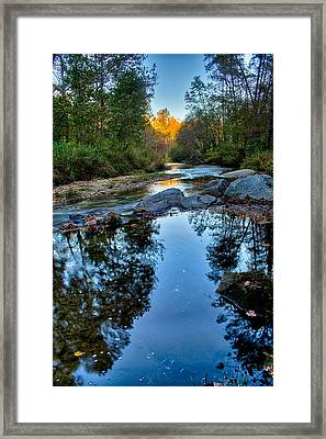 Stone Mountain North Carolina Scenery During Autumn Season Framed Print