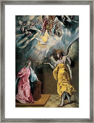 The Annunciation  Framed Print by El Greco