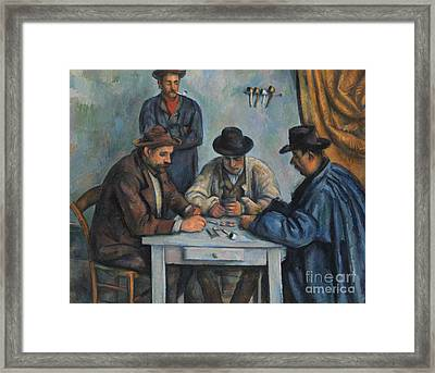 The Card Players Framed Print by Paul Cezanne