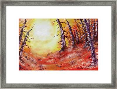16 Trees Framed Print