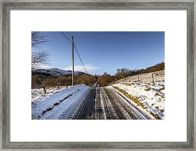 Trossachs Scenery In Scotland Framed Print