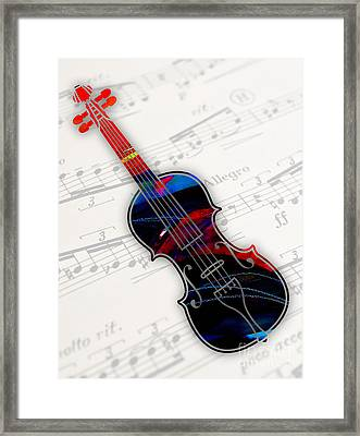 Violin Collection Framed Print by Marvin Blaine