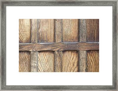 Wooden Panels Framed Print