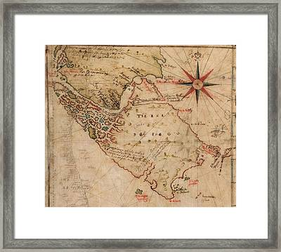 1630 Map Of Strait Of Magellan Framed Print