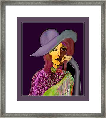 1634 - My Eyes Have Seen It All 2017 Framed Print by Irmgard Schoendorf Welch