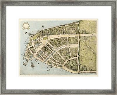 1660 New Amsterdam Map Framed Print