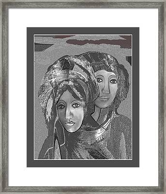 Framed Print featuring the digital art 1667 - The Sisters by Irmgard Schoendorf Welch