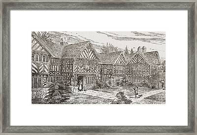 16th Century Kenyon Peel Hall Framed Print by Vintage Design Pics