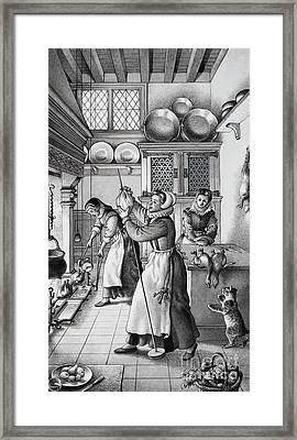 16th Century Kitchen Framed Print by Pat Nicolle