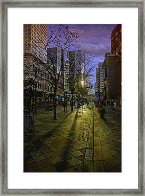 16th Street Mall Framed Print