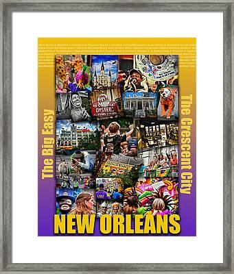 16x20 New Orleans Poster Framed Print