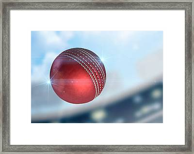 Ball Flying Through The Air Framed Print
