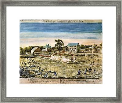 Battle Of Lexington, 1775 Framed Print by Granger