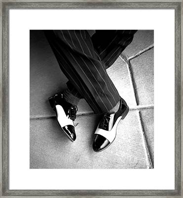 Big Shoes Little Feet Framed Print