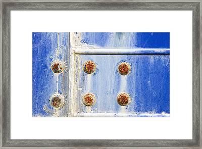 Blue Metal Framed Print