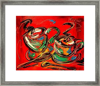 Coffee Framed Print by Mark Kazav