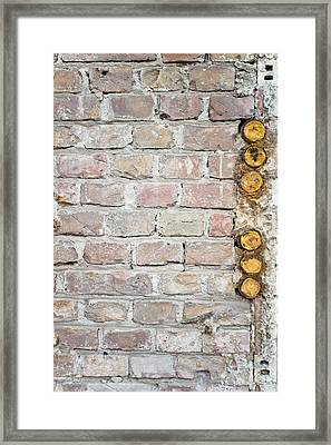 Damaged Wall Framed Print by Tom Gowanlock