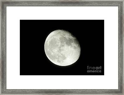 17 Day Old Waning Gibbous 95 Per Cent Visible Moon Framed Print