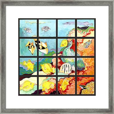 17 Fish Framed Print