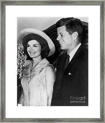 John F Kennedy (1917-1963) Framed Print