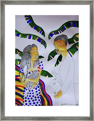 Kintu And Nambi A Ugandan Folktale Framed Print