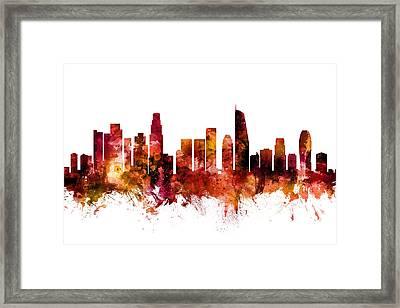 Los Angeles California Skyline Framed Print