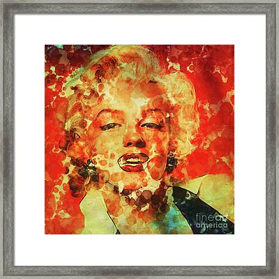 Marilyn Monroe Vintage Hollywood Actress Framed Print by Mary Bassett