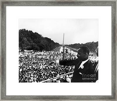 Martin Luther King, Jr Framed Print