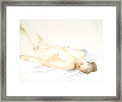 Nude Series Framed Print by Eugenia Picado