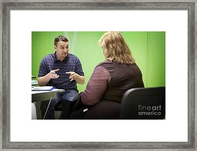 Obesity Clinic Framed Print by Am�lie Benoist