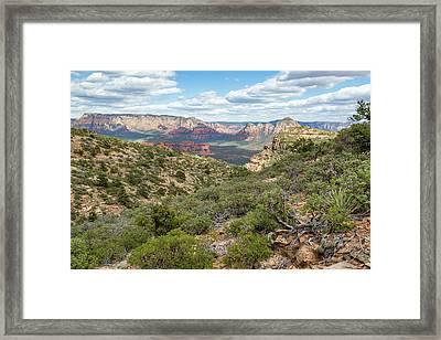 Sedona Framed Print by Jon Manjeot