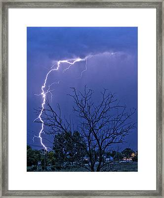 17 Street To Hygiene Lightning Strike. Framed Print