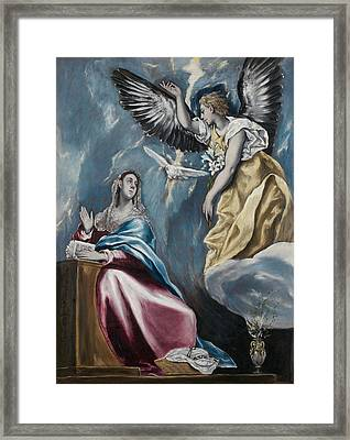 The Annunciation Framed Print by El Greco