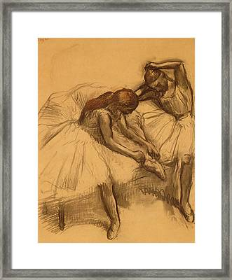 Two Dancers Framed Print by Edgar Degas