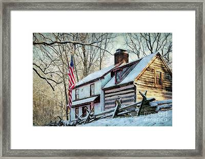 1700's Log House In West Chester, Pa Framed Print