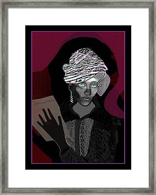 1711 - Blue Eyes In The Night 2017 Framed Print by Irmgard Schoendorf Welch