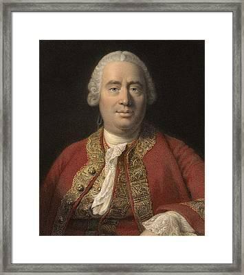 1766 David Hume Philosopher Of Science Framed Print by Paul D Stewart