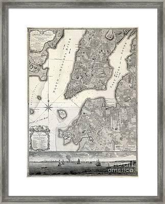1766 Map Of New York City Framed Print