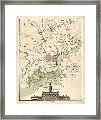 1777 Philadelphia Framed Print by Matthaus Albrecht Lotter