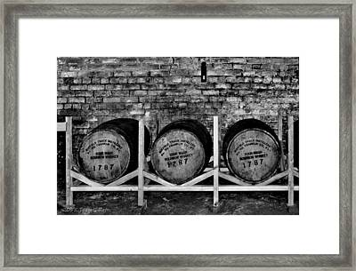1787 Whiskey Barrels Framed Print by Tara Potts