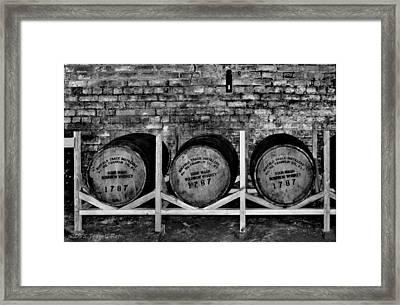 1787 Whiskey Barrels Framed Print