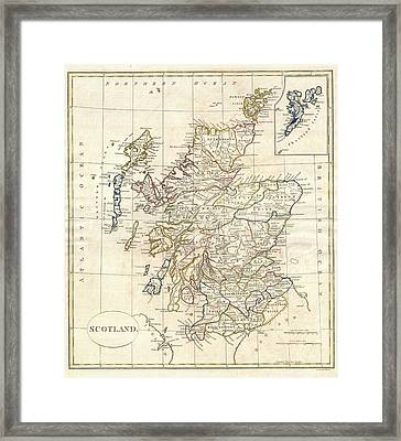 1799 Scotland Map Framed Print by Dan Sproul