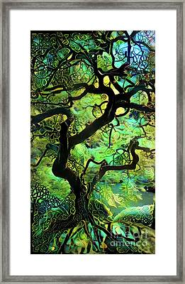 Abstract Japanese Maple Tree Framed Print