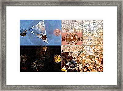 Abstract Painting - Zinnwaldite Brown Framed Print by Vitaliy Gladkiy