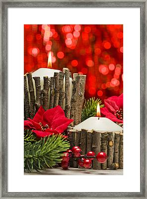 Framed Print featuring the photograph Autumn Candles by Ulrich Schade