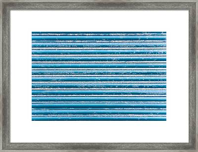 Blue Metal Framed Print