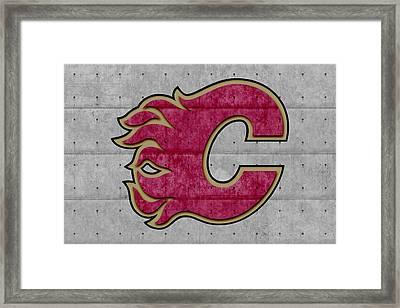 Calgary Flames Framed Print by Joe Hamilton