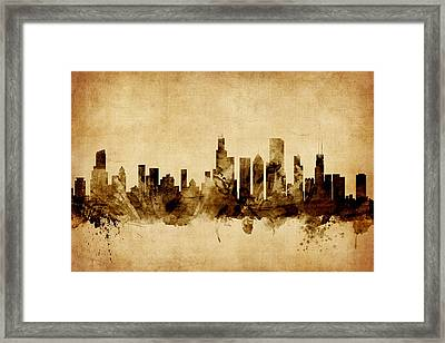 Chicago Illinois Skyline Framed Print